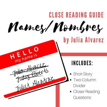 Close Reading: Names Nombres by Julia Alvarez