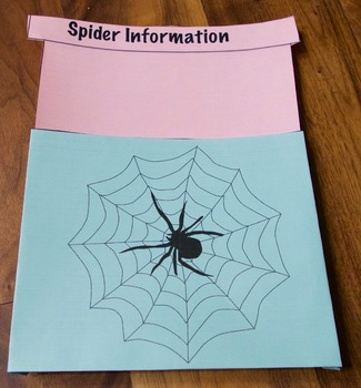 Close Reading Nonfiction Article 1 on Spiders With Interactive Notebook Folds