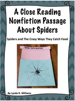 Close Reading Nonfiction Article on Spiders With Interacti