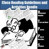 Close Reading Strategies Activities Bundle Unit