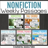 Weekly Nonfiction Reading Passages Bundle (Close Reading Passages) with Digital