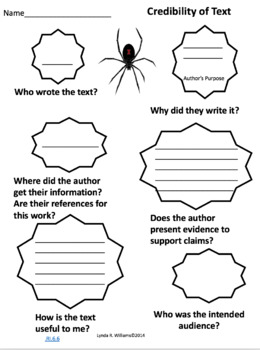Close Reading Nonfiction Spider Article 2 With Interactive Notebook Inserts