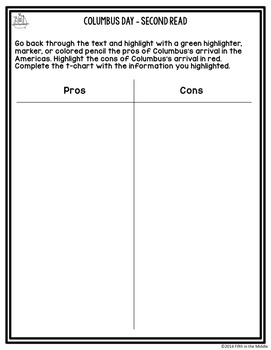 October Differentiated Nonfiction Close Reading Texts and Activities