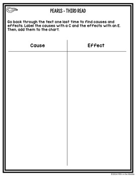 Differentiated Nonfiction Close Reading - Pearl Freebie
