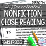 FREE Pearls Close Reading Comprehension Passages and Questions