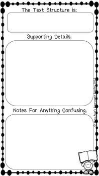 Close Reading Notes Packets - Grades 4-6