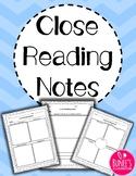 Close Reading Notes Templates