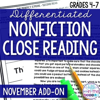 Close Reading  - November Lower Level ADD-ON