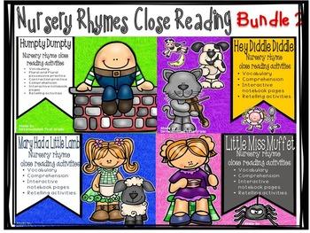 Close Reading - Nursery Rhymes -Bundle 2- Beginning Readers