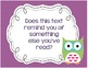 Close Reading OWL themed Posters & Checklist! Questions help readers think!