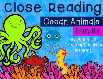 Close Reading Ocean Animal ((Bundle))