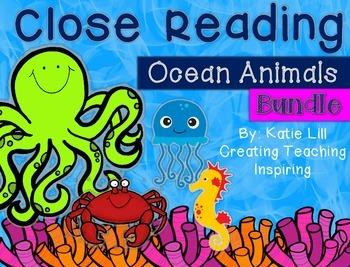 Close Reading Ocean Animal ((Bundle))