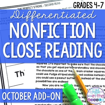 Close Reading  - October Lower Level ADD-ON