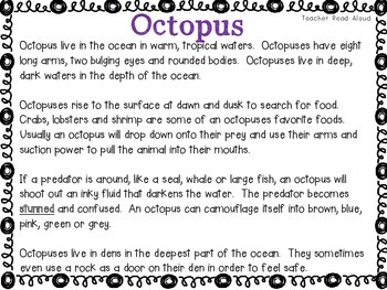 Close Reading -- Octopus