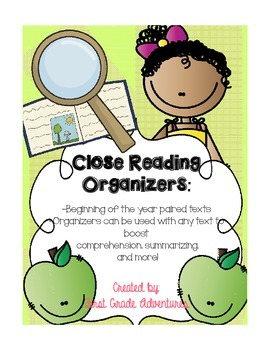 Close Reading Organizers {Fiction and Non-Fiction Organizers for Any Text}