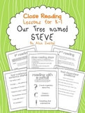 Close Reading ~ Our Tree Named Steve by Alan Zweibel