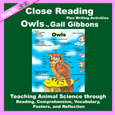 Close Reading: Owls by Gail Gibbons