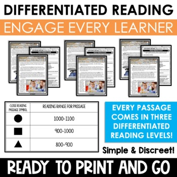 Physical Science Reading Passages and Writing Prompts