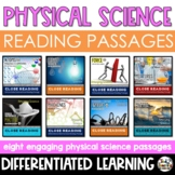 Physical Science Reading Passages Differentiated Close Reading