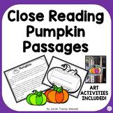 Halloween Activities Close Reading PUMPKINS Informational Text