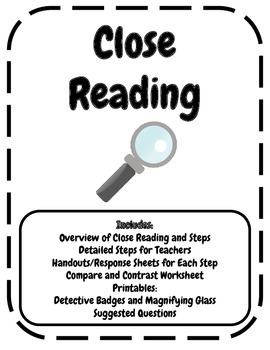 Close Reading Worksheets and Handouts for Elementary Grades