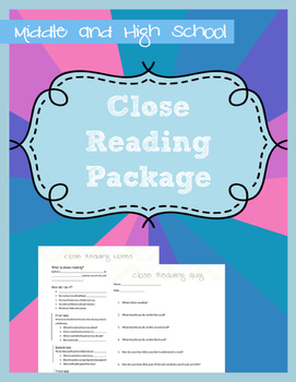 Close Reading Package