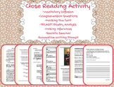 Close Reading Packet-Abraham Lincoln & Frederick Douglass