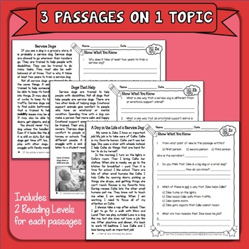 Paired Passages Plus: Close Reading Comprehension with Questions
