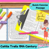 Cattle Trails: Non-Fiction Reading Passage