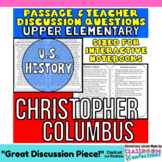 Christopher Columbus: Non-Fiction Reading Passage