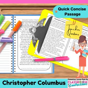 Christopher Columbus: Non-Fiction Reading Passage
