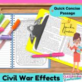 Civil War: Non-Fiction Reading Passage