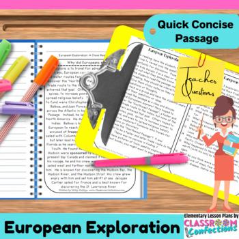 European Exploration: Explorers: Non-Fiction Reading Passage