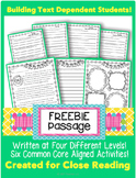 "Close Reading Passage ""FREEBIE"" for Spring"