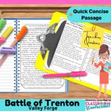 George Washington: Trenton: Valley Forge: Non-Fiction Reading Passage