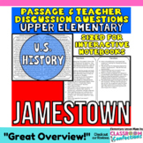 Jamestown: Non-Fiction Reading Passage