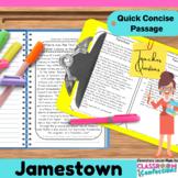 Jamestown: Non-Fiction Reading Passage