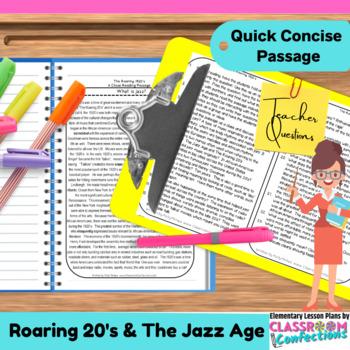 Jazz Age: Non-Fiction Reading Passage