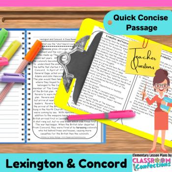Lexington and Concord: Non-Fiction Reading Passage