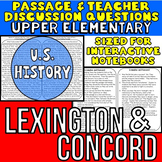 Lexington and Concord: Non-Fiction Reading Passage