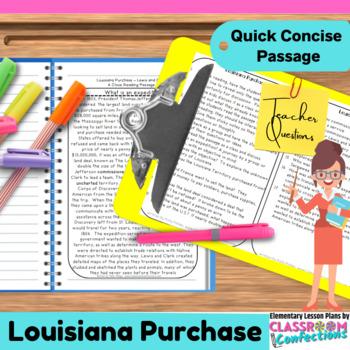 Louisiana Purchase: Non-Fiction Reading Passage