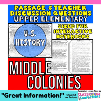 Middle Colonies: Non-Fiction Reading Passage