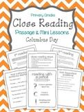 "Close Reading Passage & Mini Lessons ""Columbus Day"""