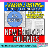 New England Colonies: Non-Fiction Reading Passage