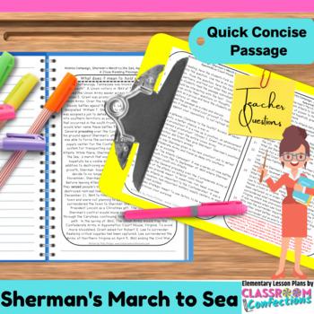 Sherman's March: Non-Fiction Reading Passage