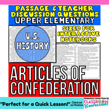 Articles of Confederation: Non-Fiction Reading Passage