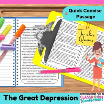 Great Depression: Non-Fiction Reading Passage