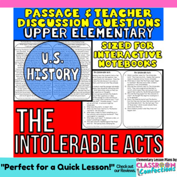 The Intolerable Acts: Non-Fiction Reading Passage