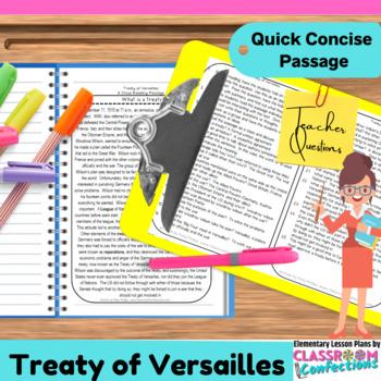 Treaty of Versailles: Non-Fiction Reading Passage