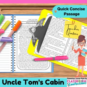 Uncle Tom's Cabin: Non-Fiction Reading Passage